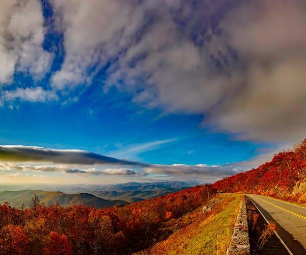 Iconic Blue Ridge Mountain Range