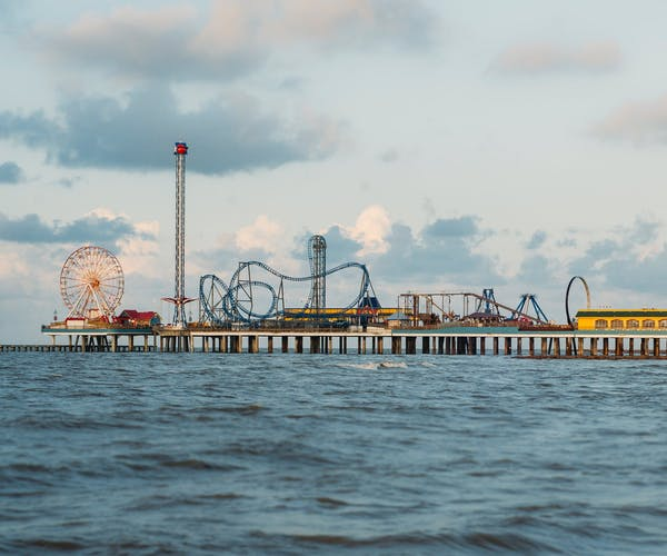 Galvistan - Texas. Yeeee haw! Wait? This isn't a rodeo, it's a carnival on the water!