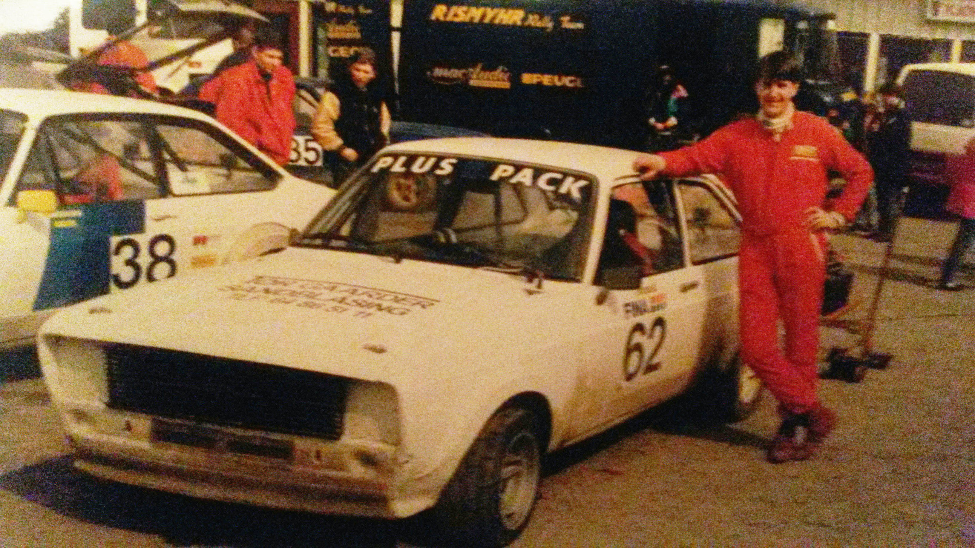 Fredric's father as grassroots rallycross driver