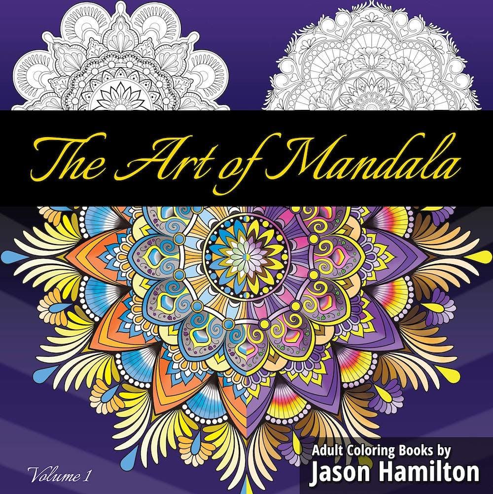 the art of mandala adult coloring book
