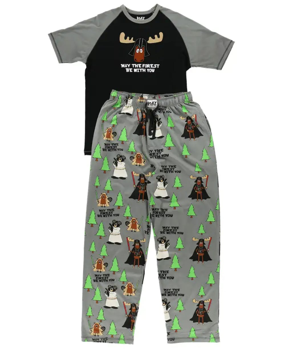 may the forest be with you men's pajama shirt and pants