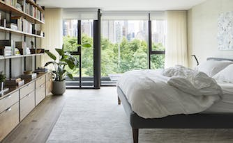 bedroom decorated using health and wellness design principles