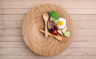 image of clock on plate to illustrate time-restricted eating