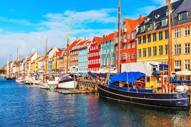Waterfront view of Copenhagen, Denmark