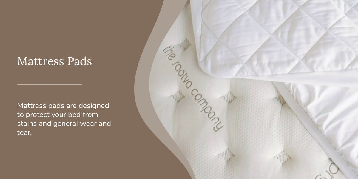 mattress pad image with definition of it