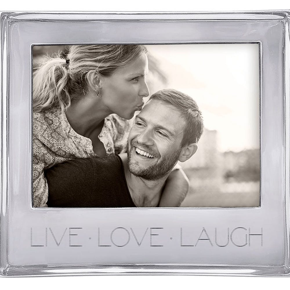 """picture frame with the words """"live, laugh, love"""" on it"""