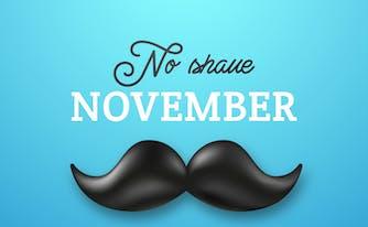 no shave november sign