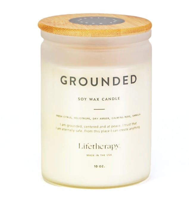 Lifetherapy Grounded soy wax candle for Mother's Day