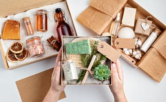 self-care subscription boxes with various bath and body products