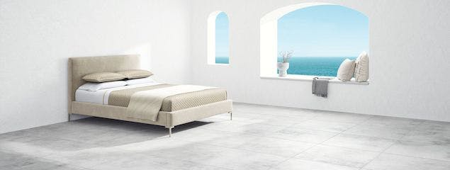 Saatva's Santorini platform bed frame