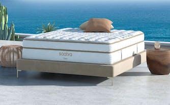 best mattress brands - saatva classic mattress outside