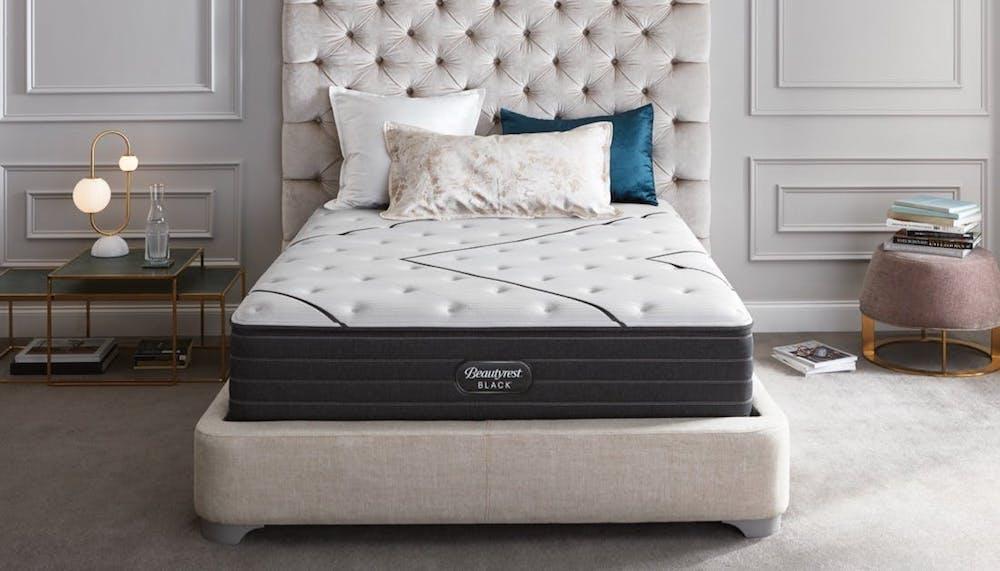 simmons beautyrest black pillow top mattress