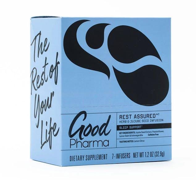 Good Pharma Rest Assured adaptogen tea for Mother's Day