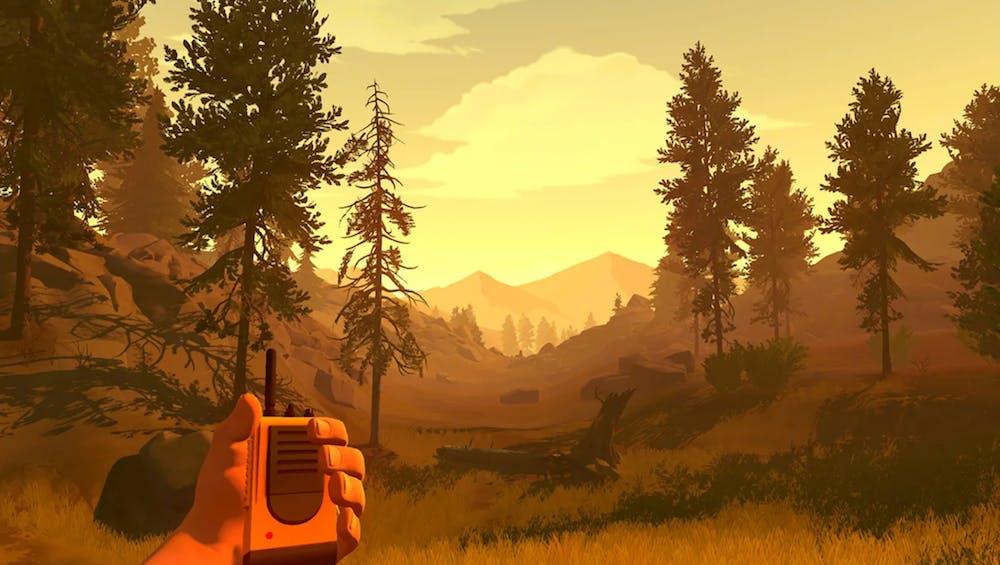 screengrab of firewatch video game