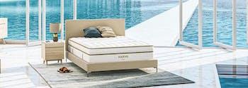 saatva's innerspring mattress inside beachside house