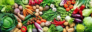 image of colorful vegetables that are part of vegan diet