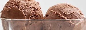 bowl of chocolate ice cream