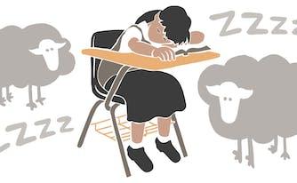 image of sleep deprived child