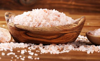 image of pink himalayan salt