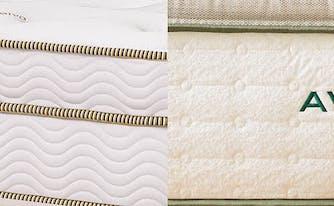 saatva latex hybrid and avocado green mattress