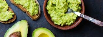 best snacks before bed - image of avocado toast