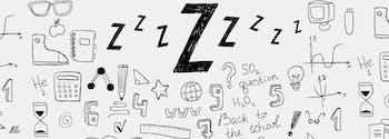back to school sleep tips - image of sleep cartoon