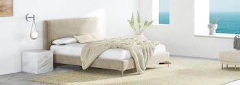 saatva upholstered bed frame