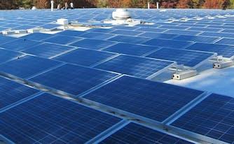 image of solar panels on saatva's flagship factory