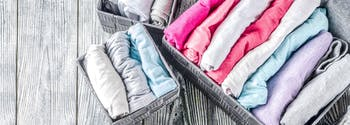 image of marie kondo method of folding clothes