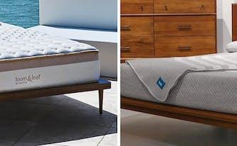 images of loom & leaf and leesa memory foam mattresses