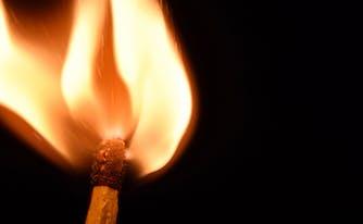 menopause and sleep - image of flame