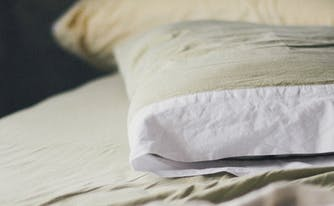 image of clean pillow after being washed