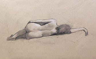 naked sketch of woman - extreme sleeping naked and in public