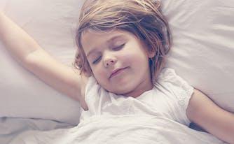 kids sleep - image of little girl sleeping