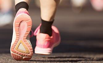 an olympic runner's sleep routine - image of running feet
