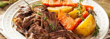 holiday recipes - image of pulled pork in slow cooker
