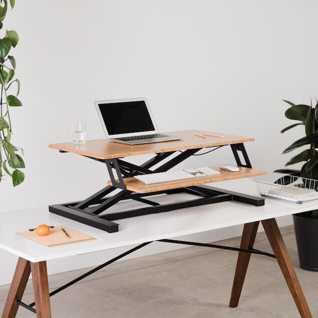 standing desk to prevent back pain while working from home