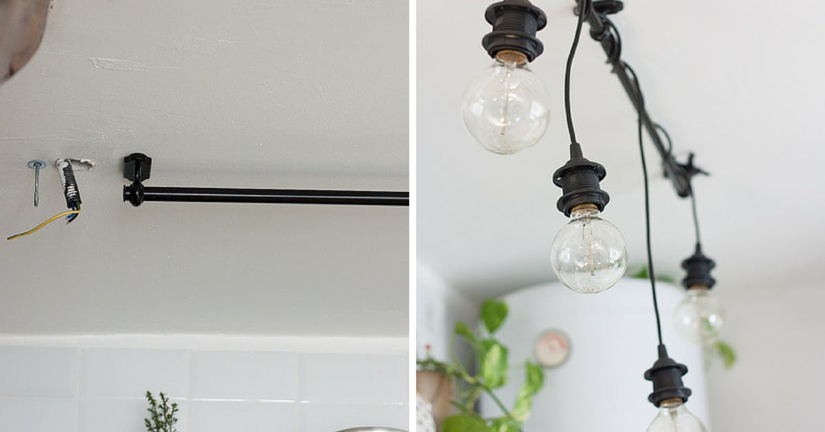 Hanging Lights - Ikea hack light
