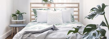 image of sunny spring bedroom