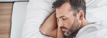image of person sleeping on side