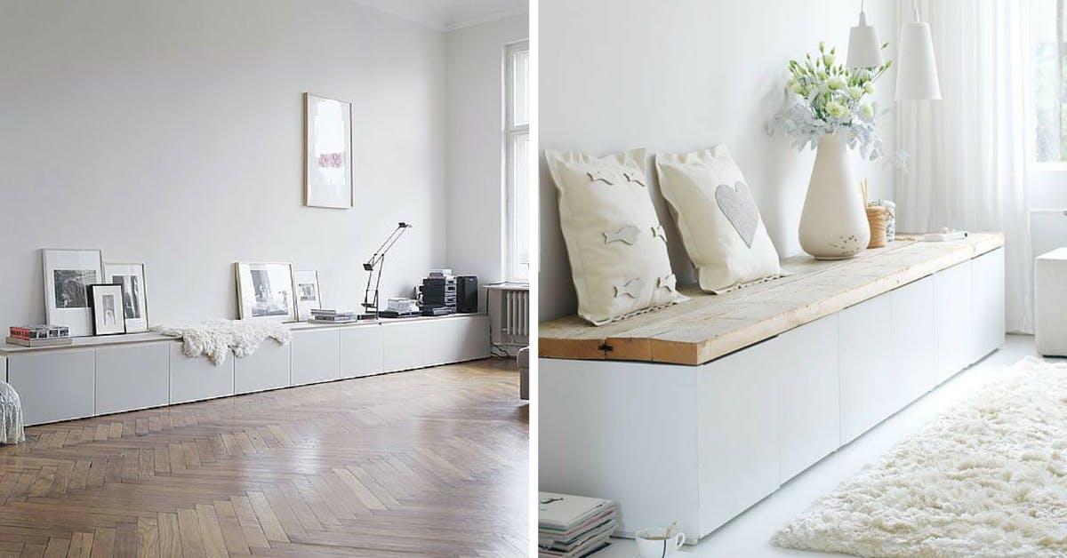 Besta Bench Seating - DIY Ikea Bench Hack