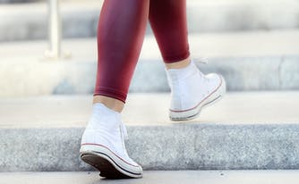 image of woman's legs - leg cramps during sleep