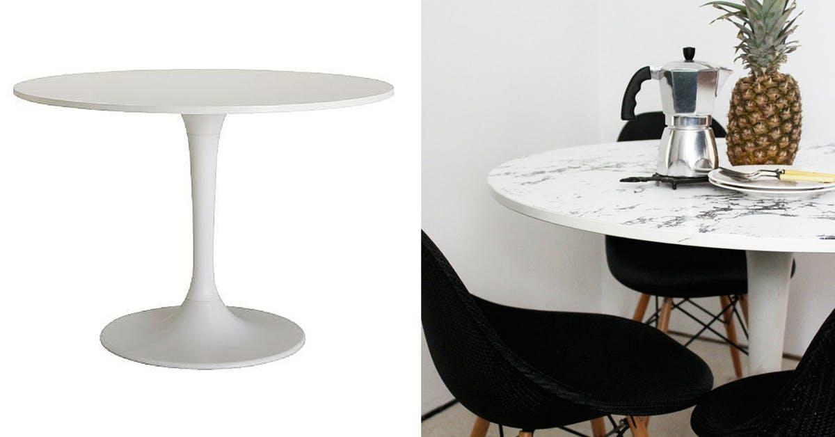 Docksta table - Ikea wall table hack