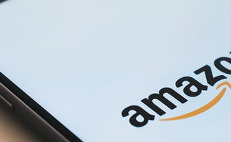 amazon prime day mattress sales - image of tablet set to amazon.com