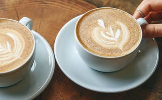 image of two lattes