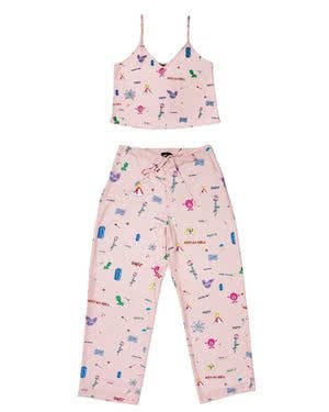 Hot Lava Art Girl Pajama Tank and Pajama Bottom