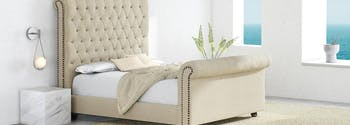 image of sleigh bed - bed frame styles