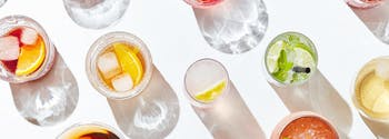 alcohol and sleep - image of various cocktails