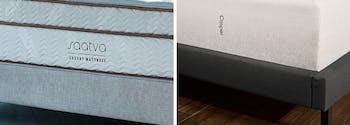 image of saatva classic vs casper hybrid mattresses
