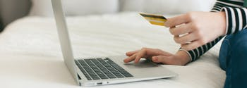 image of woman buying a mattress online